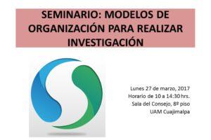 SEMINARIO: MODELOS DE ORGANIZACIÓN PARA REALIZAR INVESTIGACIÓN