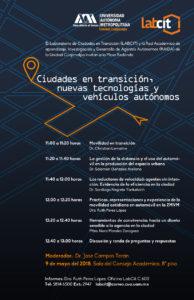 """Seminario """"Ciudades en transición, nuevas tecnologías y vehículos autónomos"""""""
